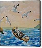 After A Fishing Day Canvas Print