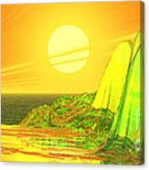 Green Crystal Hills Canvas Print