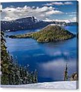 Afternoon Clearing At Crater Lake Canvas Print