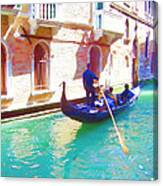 Afternoon In A Gondola Canvas Print
