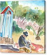 Afternoon On A Cretan Beach Canvas Print