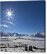 Afternoon Sun Along The Dempster Canvas Print