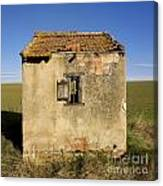 Aged Hut In Auvergne. France Canvas Print