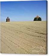 Agricultural Landscape. Limagne. France Canvas Print
