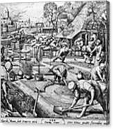 Agriculture: Spring, C1555 Canvas Print