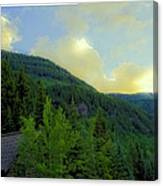 Ah To Live On Vail Mountain Canvas Print