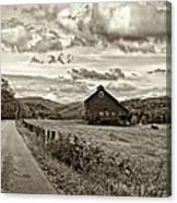 Ah...west Virginia Sepia Canvas Print