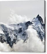 Aiguille Du Midi Out Of Clouds Canvas Print