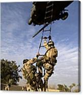 Air Force Pararescuemen Are Extracted Canvas Print