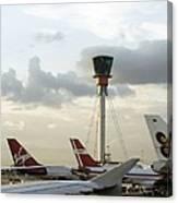 Air Traffic Control Tower, Uk Canvas Print
