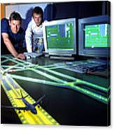 Airfield Lighting Simulation Canvas Print