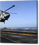 Airman Directs An Eh-101 Merlin Canvas Print