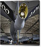 Airman Hand-washes The Centerline Canvas Print