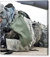 Airman Provides Security At Whiteman Canvas Print
