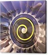 Airplane Engines On Display Canvas Print