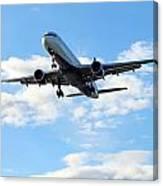 Airplane Landing Canvas Print