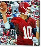 Alabama Quarter Back Passing Canvas Print