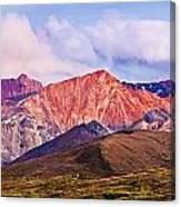 Alaska Range And Fall Colours Canvas Print