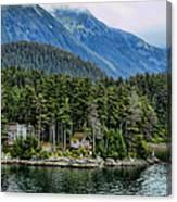 Alaskan Mountain Retreat Canvas Print