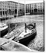 #albertdock #liverpool #harbor #boat Canvas Print