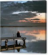 Albufera. Couple. Valencia. Spain Canvas Print