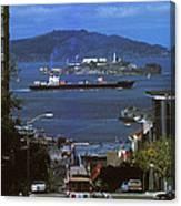 Alcatraz From San Fran Hilltop Canvas Print