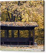 Alcove In The Autumn Park Canvas Print