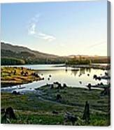 Alder Lake Wa At Sunset Canvas Print