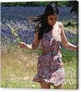 Alexis In Lavender Canvas Print