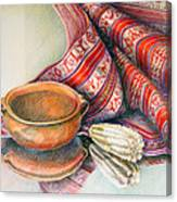 Alfareria Sobre Aguayo Con Choclo Canvas Print