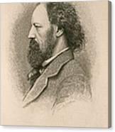 Alfred, Lord Tennyson, English Poet Canvas Print