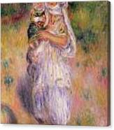 Algerian Woman And Child Canvas Print