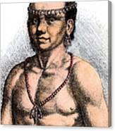 Algonquian Man, 1645 Canvas Print