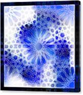 Alhambra Pattern Blue Canvas Print