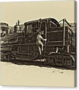 All Aboard Antique Canvas Print