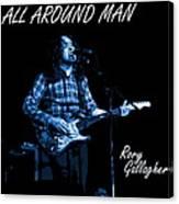 All Around Man Blues Square Canvas Print