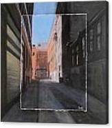 Alley Front Street Layered Canvas Print