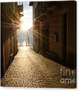 Alley In Backlight  Canvas Print