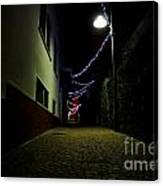 Alley With Lights Canvas Print