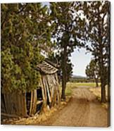 Almost A Pile Of Wood Barn Vertical Canvas Print