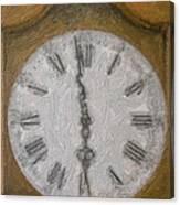 Almost Six O'clock Canvas Print
