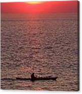 Alone At Sunset Canvas Print