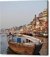 Alone On The Ganges Canvas Print