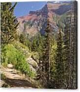 Along St. Mary's Lake Trail Canvas Print