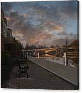 Along The Menasha Riverfront Canvas Print
