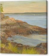 Along The Sound Shore Canvas Print