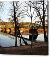 Alongside The Uhlerstown Frenchtown Bridge Canvas Print