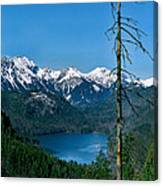 Alp See Lake In Bavaria Germany Canvas Print
