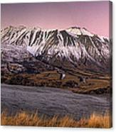Alpenglow Over The Clyde River Canvas Print