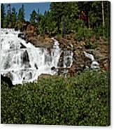 Alpine Falls Lake Tahoe II Canvas Print